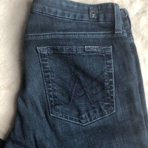 7 FOR ALL MANKIND 'A' Pocket dark wash jeans
